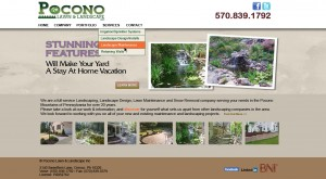 Pocono Lawn and Landscape website design Stroudsburg PA